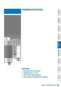 sensores capacitivos  241 ventajas: