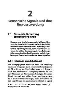 Sensorische Signale und ihre Bewusstwerdung