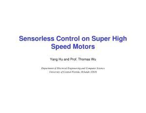 Sensorless Control on Super High Speed Motors