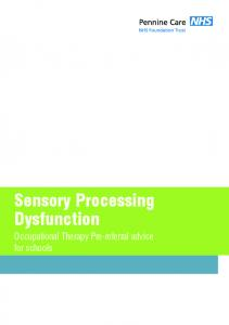 Sensory Processing Dysfunction