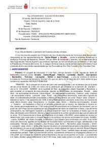 SENTENCIA Carlos Miguel y Arcadio, homicidio I. ANTECEDENTES Primero.- homicidio