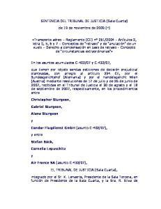 SENTENCIA DEL TRIBUNAL DE JUSTICIA (Sala Cuarta) de 19 de noviembre de 2009 (*)