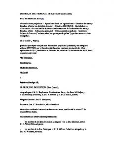 SENTENCIA DEL TRIBUNAL DE JUSTICIA (Sala Cuarta)