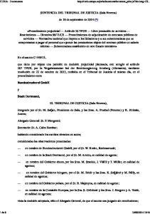 SENTENCIA DEL TRIBUNAL DE JUSTICIA (Sala Novena) de 18 de septiembre de 2014 (*)