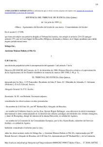 SENTENCIA DEL TRIBUNAL DE JUSTICIA (Sala Quinta) de 1 de julio de 1999 (1)