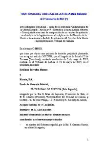 SENTENCIA DEL TRIBUNAL DE JUSTICIA (Sala Segunda) de 27 de marzo de 2014 (*)