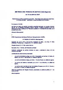 SENTENCIA DEL TRIBUNAL DE JUSTICIA (Sala Segunda) de 19 de abril de 2007