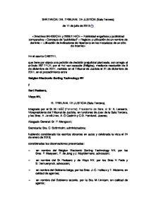 SENTENCIA DEL TRIBUNAL DE JUSTICIA (Sala Tercera) de 11 de julio de 2013 (*)