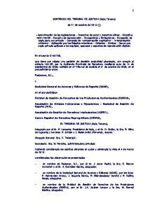 SENTENCIA DEL TRIBUNAL DE JUSTICIA (Sala Tercera) de 21 de octubre de 2010 (*)