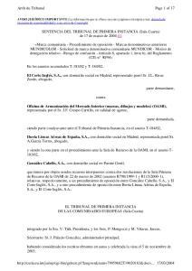 SENTENCIA DEL TRIBUNAL DE PRIMERA INSTANCIA (Sala Cuarta) de 17 de marzo de 2004 (1)