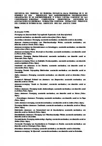 SENTENCIA DEL TRIBUNAL DE PRIMERA INSTANCIA (SALA PRIMERA) DE 21 DE FEBRERO DE 1995
