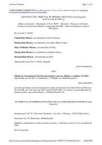 SENTENCIA DEL TRIBUNAL DE PRIMERA INSTANCIA (Sala Segunda) de 22 de junio de 2004 (1)