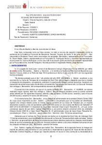 SENTENCIA I. ANTECEDENTES 1.- estafa