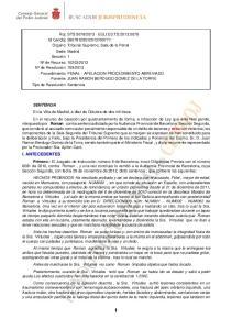 SENTENCIA Roman robo I. ANTECEDENTES Primero.-