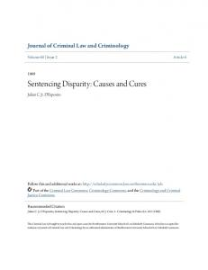 Sentencing Disparity: Causes and Cures