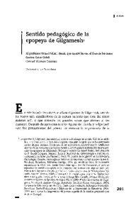 Sentido pedagogico de la epopeya de Gilgameshl