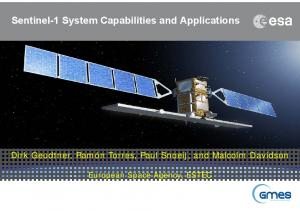 Sentinel-1 System Capabilities and Applications