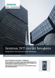 Sentron 3VT circuit breakers