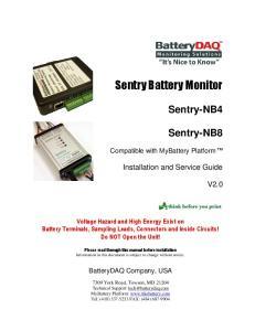 Sentry Battery Monitor