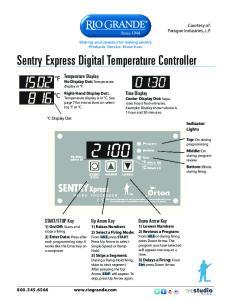 Sentry Express Digital Temperature Controller