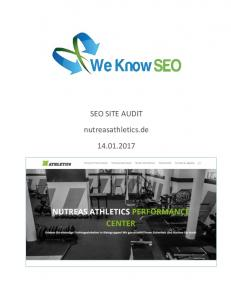 SEO SITE AUDIT. nutreasathletics.de