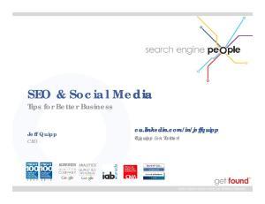 SEO & Social Media Tips for Better Business