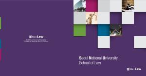 Seoul National University School of Law 1 Gwanak-ro, Gwanak-gu, Seoul , Korea. Seoul National University School of Law