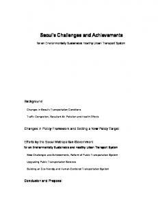 Seoul's Challenges and Achievements
