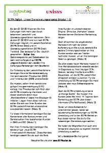 SEPA Sofort Unser Dienstleistungsangebot (Modul 1-5)