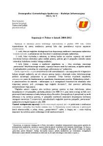 Separacje w Polsce w latach
