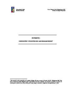 SEPARATA 1 CONCEPTO Y FUENTES DE LAS OBLIGACIONES 1