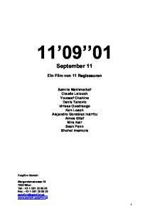 September 11. Ein Film von 11 Regisseuren