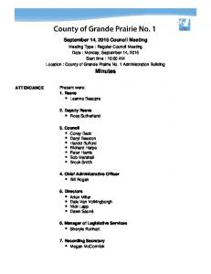 September 14, 2015 Council Meeting