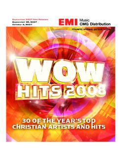 September 2007 New Releases September 25, 2007 October 2, music.video.print.kids