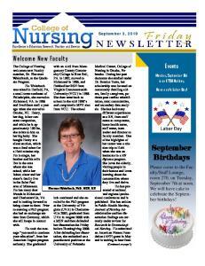 September 3, Medical Center, College of Nursing in Omaha, Nebraska