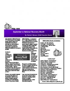 September is National Recovery Month Recovery is a Reality