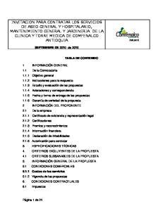 SEPTIEMBRE DE 2010 de 2010 TABLA DE CONTENIDO