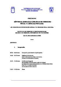 SÉPTIMAS JORNADAS CHILENAS DE DERECHO PENAL Y CIENCIAS PENALES:
