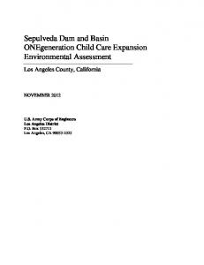 Sepulveda Dam and Basin ONEgeneration Child Care Expansion Environmental Assessment