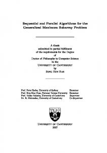Sequential and Parallel Algorithms for the Generalized Maximum Subarray Problem