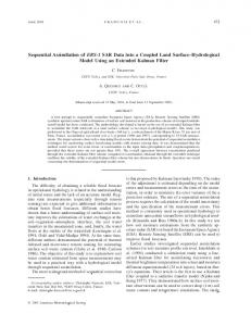 Sequential Assimilation of ERS-1 SAR Data into a Coupled Land Surface Hydrological Model Using an Extended Kalman Filter
