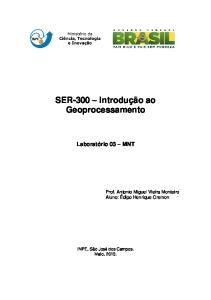 SER-300 Introdução ao Geoprocessamento