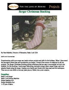 Serger Christmas Stocking