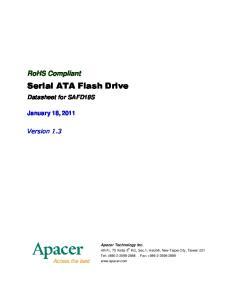 Serial ATA Flash Drive
