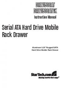 Serial ATA Hard Drive Mobile Rack Drawer