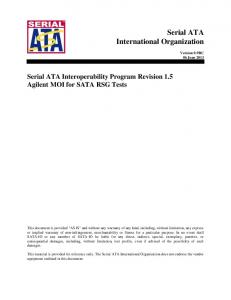 Serial ATA International Organization