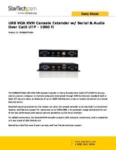 Serial & Audio Over Cat5 UTP ft