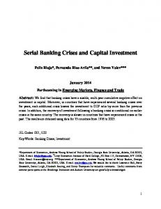 Serial Banking Crises and Capital Investment