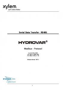 Serial Data Transfer - RS485