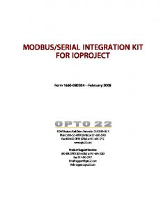 SERIAL INTEGRATION KIT FOR IOPROJECT